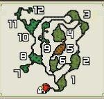 【モンハンダブルクロス・MHXX】森丘のフィールドマップ画像と主な特徴(釣り・竜の卵・山菜ジイさん・鉱石・虫・ハチミツの場所)