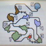 【モンハンダブルクロス・MHXX】遺群嶺のフィールドマップ画像と主な特徴(釣り・竜の卵・山菜ジイさん・鉱石・虫・ハチミツの場所)